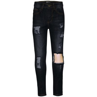 A2Z Trendz Kids Girls Stretchy Black Denim Jeans Designer's Ripped Faded Fashion Jeggings Skinny Frayed Pants Stylish Trousers New Age 5 6 7 8 9 10 11 12 13 Years