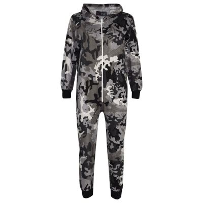 A2Z Trendz Kids Onesie Girls Boys Designer's 100% Cotton Camouflage Charcoal Print All in One Jumpsuit Playsuit New Age 5-13 Years