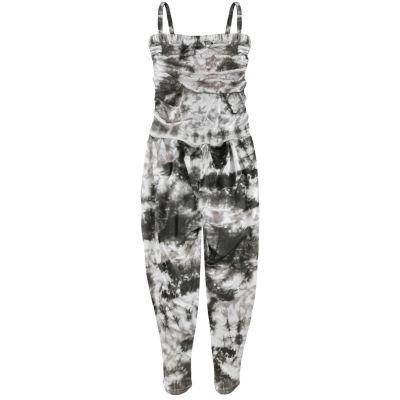 Kids Girls Jumpsuit Tie Dye Print Grey Trendy Fahsion All In One Playsuits 5-13Y