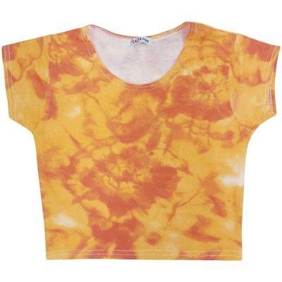 A2Z Trendz Kids Girls Crop Tops Tie Dye Print Orange Stylish Fahsion Trendy T Shirt Tank Top & Tees New Age 5 6 7 8 9 10 11 12 13 Years