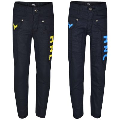 A2Z Trendz Kids Boys Stretchy Jeans Designer's HNL Print Denim Skinny Pants Fashion Trousers Age 5-13 Years