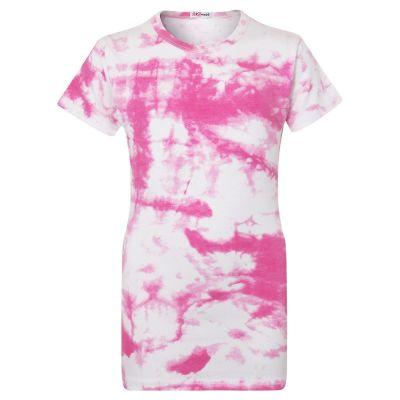Girls Pink Tie Dye Print T Shirts