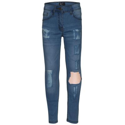 A2Z Trendz Kids Girls Stretchy Light BlueDenim Jeans Designer's Ripped Faded Fashion Jeggings Skinny Frayed Pants Stylish Trousers New Age 5 6 7 8 9 10 11 12 13 Years