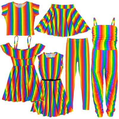 A2Z Trendz Kids Girls Designer's Rainbow Skater Dress Crop Tops T Shirts Leggings Off Shoulder Dresses New Age 7 8 9 10 11 12 13 Years