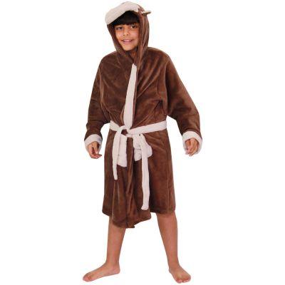 A2Z Trendz Kids Girls Boys Bathrobes Designer's 3D Animal Monkey Hooded Soft Short Lush Fleece Dressing Gown Nightwear Loungewear Age 2-13 Years