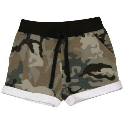 A2Z Trendz Kids Girls Shorts Fleece Camouflage Charcoal Gym Dance Sports Trendy Fashion Summer Hot Short Running Pants New Age 5 6 7 8 9 10 11 12 13 Years