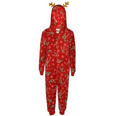 A2Z Trendz Kids Girls Boys A2Z Onesie One Piece Extra Soft Fluffy Rudolph All In One Xmas Costume New Age 2 3 4 5 6 7 8 9 10 11 12 13 Years