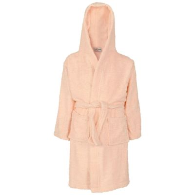 A2Z Trendz Kids Girls Towel Bathrobe 100% Cotton Baby Pink Hooded Terry Towelling Luxury Robes Dressing Gown Loungewear Age 2 3 4 5 6 7 8 9 10 11 12 13 Years