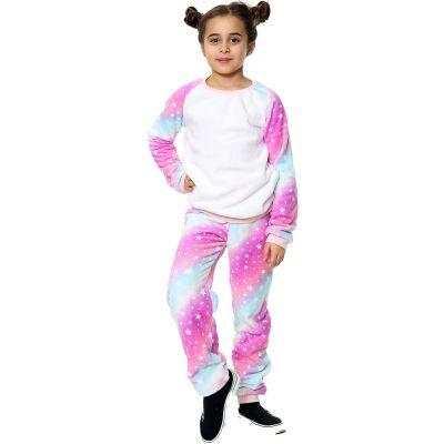 Girls Galaxy Print Soft Fleece Pyjamas