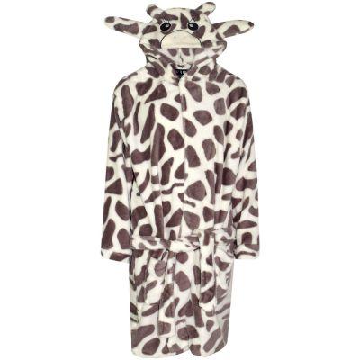 A2Z Trendz Kids Girls Boys Bathrobes Designer's 3D Animal Giraffe Hooded Soft Short Lush Fleece Dressing Gown Nightwear Loungewear Age 7-13 Years