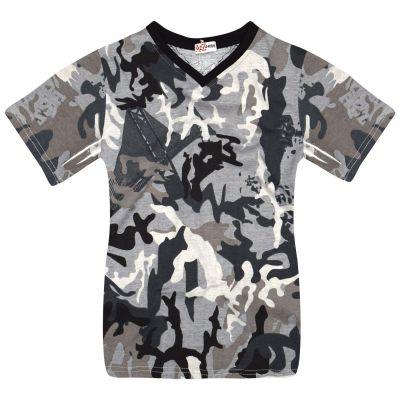A2Z Trendz Boys T Shirts Kids Designer's 100% Cotton Camouflage Print Soft Feel Tee Ringspun Military Style T-Shirts New Age 2-13 Years