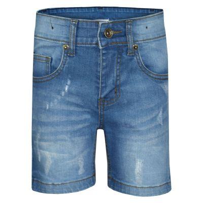 A2Z Trendz Kids Boys Shorts Designer's Light Blue Denim Ripped Chino Bermuda Jeans Shorts Casual Knee Length Half Pant New Age 5-13 Years