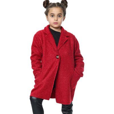 Kids Girls Jacket Designer's Teddy Petite Red Sherpa Fashion Jackets Outerwear Coats.