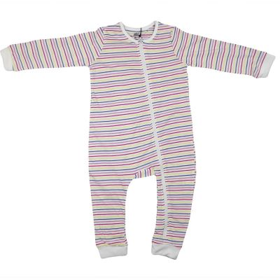 A2Z Trendz Kids Girls Boys Toddlers Romper Rainbow Stripped Onesie Sleepsuit All In One Jumpsuit Playsuit Nightwear New Age 0 1 2 3 Years