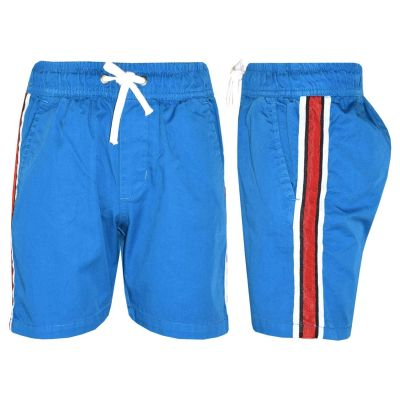 A2Z Trendz Kids Girls Boys Shorts Contrast Stripes Cotton Blue Chino Shorts Casual Knee Length Half Pant New Age 5 6 7 8 9 10 11 12 13 Years