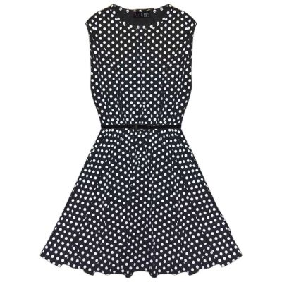A2Z Trendz Girls Skater Dress Kids Spotty Print Summer Party Dresses With Free Belt Age 7 8 9 10 11 12 13 Years