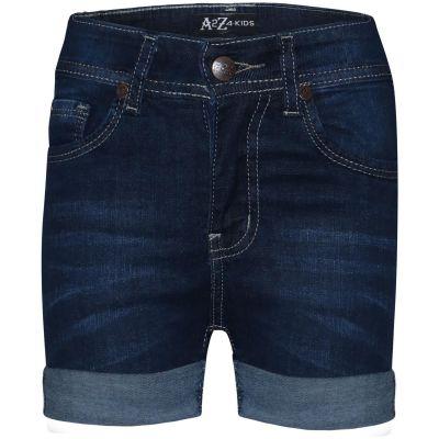 A2Z Trendz Kids Girls Shorts Bermuda Dark Blue Skinny Jeans Hot Pants Summer Denim Chino Short Casual Hal Pant New Age 5 6 7 8 9 10 11 12 13 Years