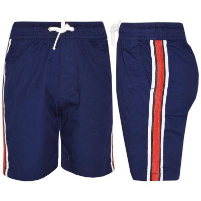 A2Z Trendz Kids Girls Boys Shorts Contrast Stripes Cotton Navy Chino Shorts Casual Knee Length Half Pant New Age 5 6 7 8 9 10 11 12 13 Years