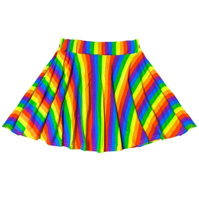 A2Z Trendz Kids Girls Skater Skirt Designer's Rainbow Print Party Fashion Ballet Dance Trendy Summer Tutu Skirts New Age 7 8 9 10 11 12 13 Years