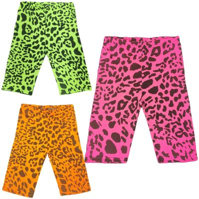 A2Z Trendz Kids Girls Cycling Shorts Leopard Print Gym Dance Running Trendy Fashion Summer Short Knee Length Half Pants New Age 5 6 7 8 9 10 11 12 13 Years