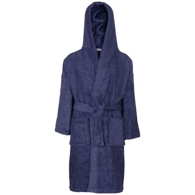 A2Z Trendz Kids Girls Boys Towel Bathrobe 100% Cotton Navy Hooded Terry Towelling Luxury Robes Dressing Gown Loungewear Age 2 3 4 5 6 7 8 9 10 11 12 13 Years