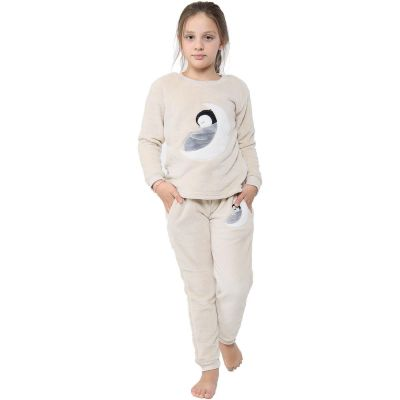 A2Z Trendz Kids Girls Boys Pyjamas Extra Soft Penguin Print Loungewear Sleepwear Flannel Fleece Trendy Fashion Outfit Sets Nightwear PJS New Age 2 3 4 5 6 7 8 9 10 11 12 13 Years