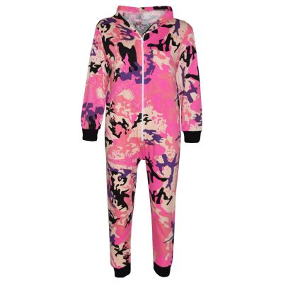 A2Z Trendz Kids Onesie Girls Boys Designer's 100% Cotton Camouflage Baby Pink Print All in One Jumpsuit Playsuit New Age 5-13 Years