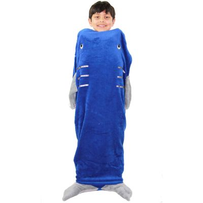 A2Z Trendz Kids Blanket Shark Soft Fleece Blankets Sleeping Bag Fancy Dresses One Size