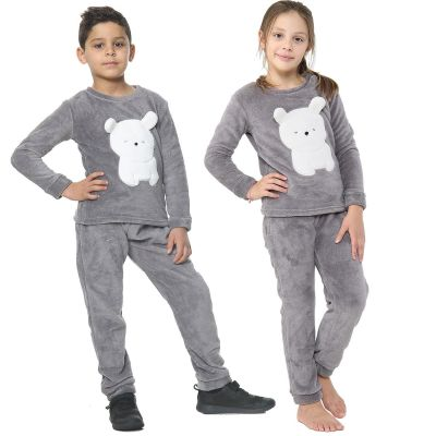 Unisex Pyjamas Extra Soft Polar Bear Loungewear Fleece Outfit Set