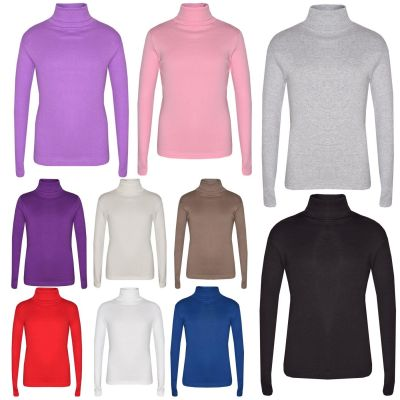 A2Z Trendz Kids Girls Polo Neck T Shirt Top Designer's Thick Cotton Turtleneck Fashion Long Sleeves Tops New Age 2 3 4 5 6 7 8 9 10 11 12 13 Years