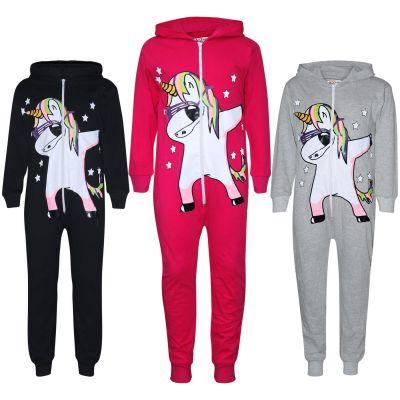 A2Z Trendz Kids Girls 100% Cotton Onesie Dabbing Unicorn & Starts Print All In One Jumpsuit Playsuit Nightwear New Age 5 6 7 8 9 10 11 12 13 Years