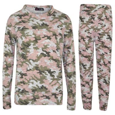 Kids Girls Camouflage Print Lounge Suit