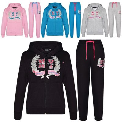 A2Z Trendz Kids Tracksuit Boys Girls Designer's NY Deluxe Edition Print Hoodie & Botom Jogging Suit Joggers Age 7 8 9 10 11 12 13 Years