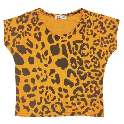 A2Z Trendz Kids Girls Crop Tops Leopard Print Neon Orange Stylish Fahsion Trendy T Shirt Tank Top & Tees New Age 5 6 7 8 9 10 11 12 13 Years