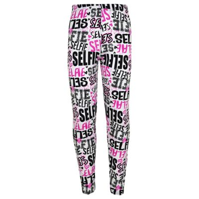 Kids Girls Legging Selfie Graffiti stylish Print Trendy Fashion Leggings New Age 7 8 9 10 11 12 13 Years