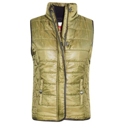 A2Z Trendz Kids Girls Boys Jacket Designer's Olive Wet Look Sleeveless Padded Lined Quilted Gilet Bodywarmer Fashion Jackets Age 5 6 7 8 9 10 11 12 13 Years