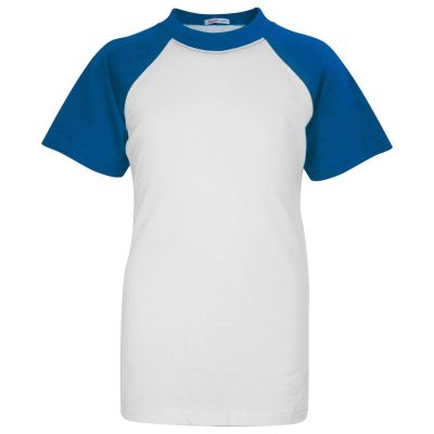 A2Z Trendz Kids Boys Girls Blue T Shirts Designer's 100% Cotton Plain Baseball Short Raglan Sleeves Team Sports Tee Soft Feel Casual T-Shirts New Age 2 3 4 5 6 7 8 9 10 11 12 13