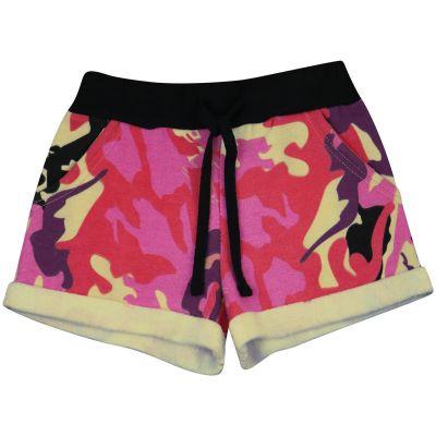 A2Z Trendz Kids Girls Shorts Fleece Camouflage Baby Pink Gym Dance Sports Trendy Fashion Summer Hot Short Running Pants New Age 5 6 7 8 9 10 11 12 13 Years