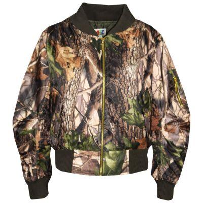 A2Z Trendz Kids Jacket Girls Boys Jungle Print Bomber Padded Zip Up Biker Jacktes MA 1 Coat New Age 3 4 5 6 7 8 9 10 11 12 13 Years