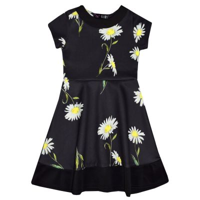 A2Z Trendz Girls Skater Dress Kids Designer's Daisy Floral Print Summer Party Fashion Dresses New Age 7 8 9 10 11 12 13 Years