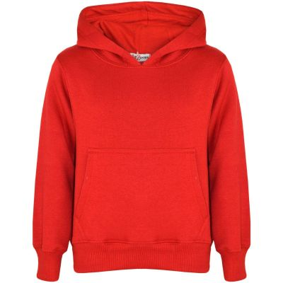 A2Z Trendz Kids Girls Boys Sweat Shirt Tops Designer's Casual Plain Red Pullover Sweatshirt Fleece Hooded Jumper Coats New Age 2 3 4 5 6 7 8 9 10 11 12 13 Years