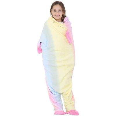 A2Z Trendz Kids Blanket Unicorn Soft Fleece Blankets Sleeping Bag Fancy Dresses One Size