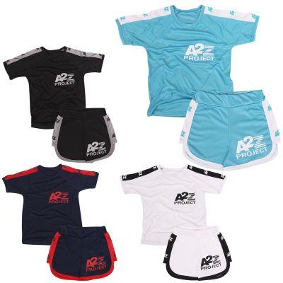 Girls Boys T Shirt Sports Summer Outfit Shorts Set