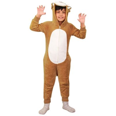A2Z Trendz Kids Boys Girls Onesie Extra Soft Fluffy 3D Animal Lion All In One Xmas Costume Jumpsuit New Age 2 3 4 5 6 7 8 9 10 11 12 13 Years