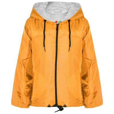 A2Z Trendz Girls Boys Raincoats Jackets Kids Mustard Lightweight Kag Mac Waterproof Hooded Jacket Cagoule Rain Mac Age 5 6 7 8 9 10 11 12 13 Years