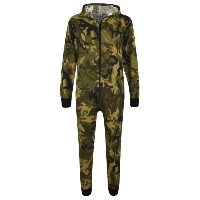 A2Z Trendz Kids Onesie Girls Boys Designer's 100% Cotton Camouflage Green Print All in One Jumpsuit Playsuit New Age 5-13 Years