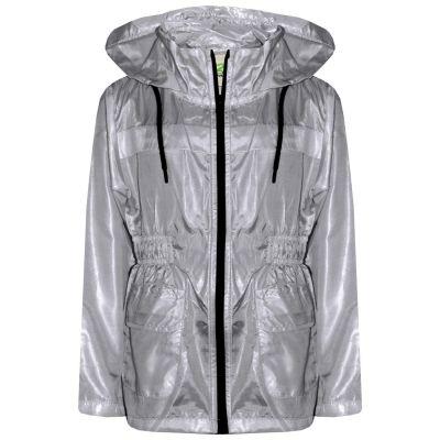 A2Z Trendz Kids Girls Boys Raincoats Jackets Designer's Grey Light Weight Waterproof Kagool Hooded Cagoule Rain Mac Coats New Age 5 6 7 8 9 10 11 12 13 Years