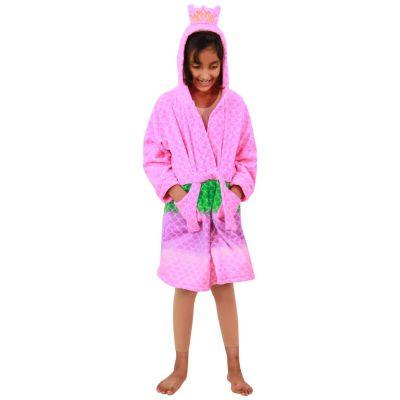 A2Z Trendz Kids Girls Bathrobes Designer's 3D Animal Mermaid Hooded Soft Short Fleece Dressing Gown Nightwear Loungewear Age 7-13 Years