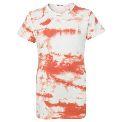 Girls Orange Tie Dye Print T Shirts