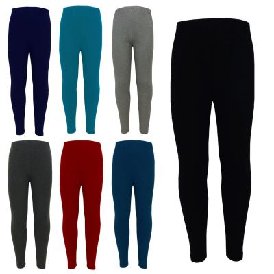 Girls Legging Kids Plain Viscose Stylish Fashion Dance School Leggings Age 2 3 4 5 6 7 8 9 10 11 12 13 Years